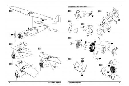 Lockheed Vega 5b -  model construction kit