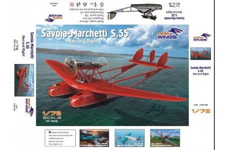 Savoia-Marchetti S.55 - 1/72 scale model construction kit
