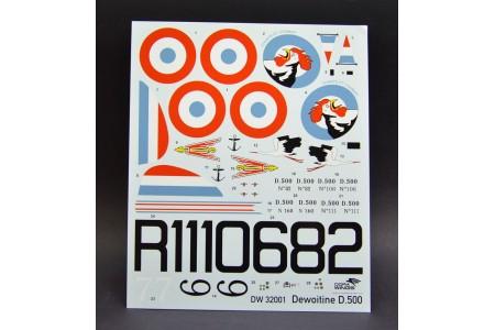 Dewoltine D.500 model construction kit